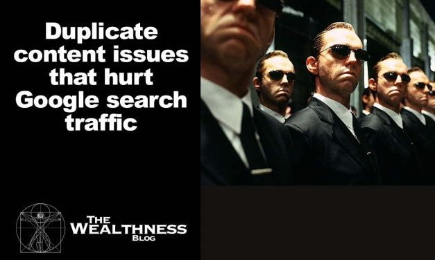 Duplicate content issues that hurt Google search traffic