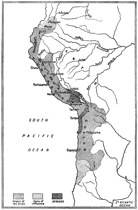 Distribution of the Races under the Empire of the Incas