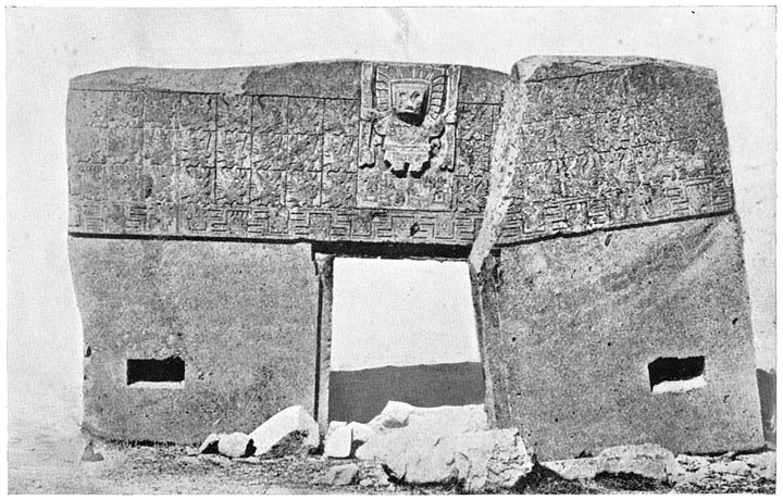 Doorway of Tiahuanaco  Carved out of a single block of stone
