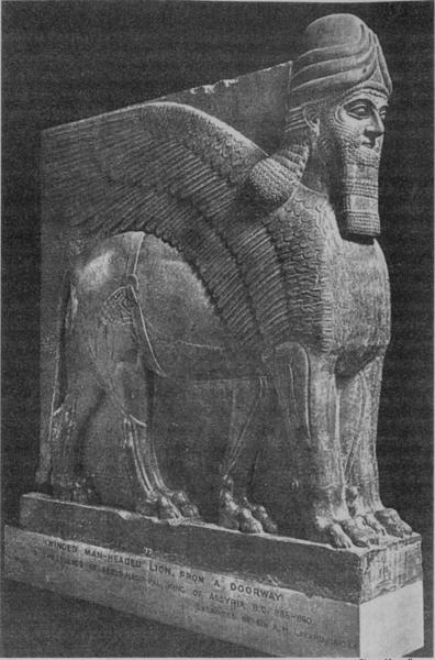 WINGED MAN-HEADED LION