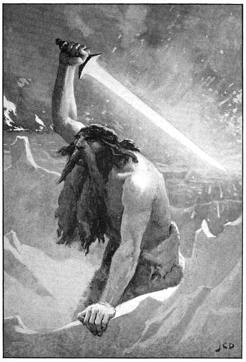 The Giant with the Flaming Sword